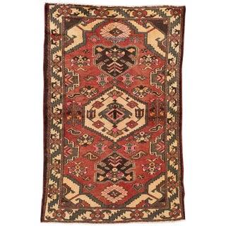 "Apadana - Vintage Persian Hamadan Rug, 4'2"" x 6'7"""