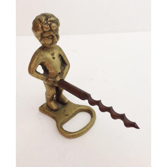 Image of Vintage Regency Brass Naughty Boy Corkscrew