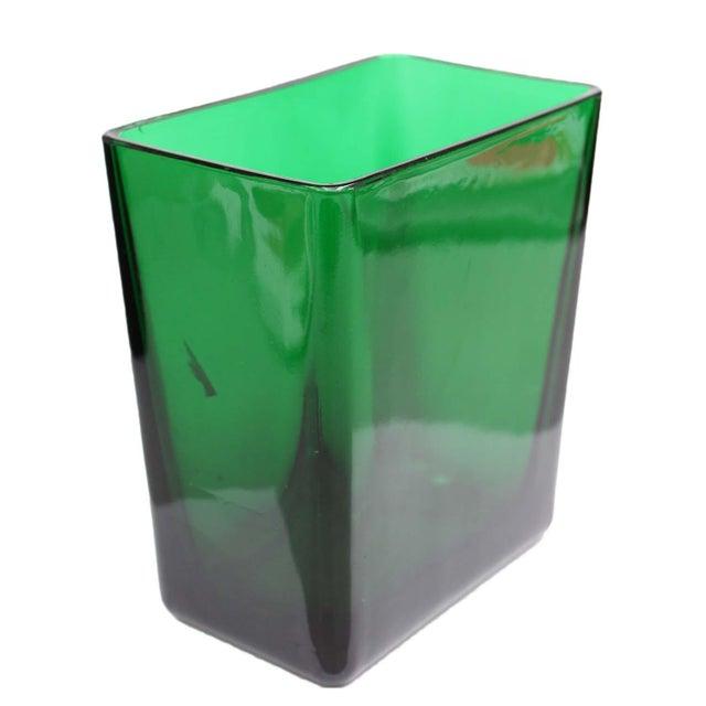 Emerald Green Tall Rectangular Vase - Image 2 of 4