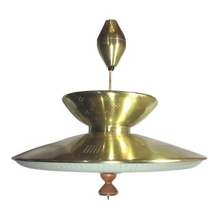 Gerald Thurston Retractable Brass Chandelier