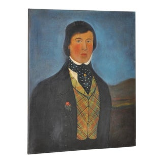 Early 19th C. American Male Oil Portrait