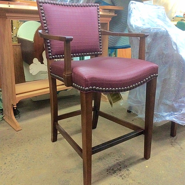 Hickory Chair Co. Studded Madigan Counter Chair - Image 2 of 3