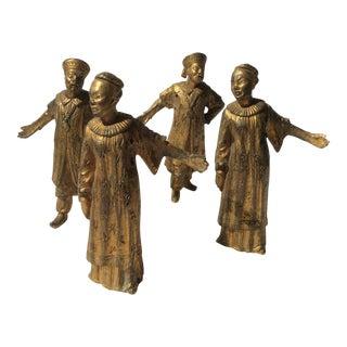 Antique French Bronze Ormolu Figural Mounts - Set of 4