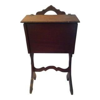 Vintage Mahogany Sewing Cabinet