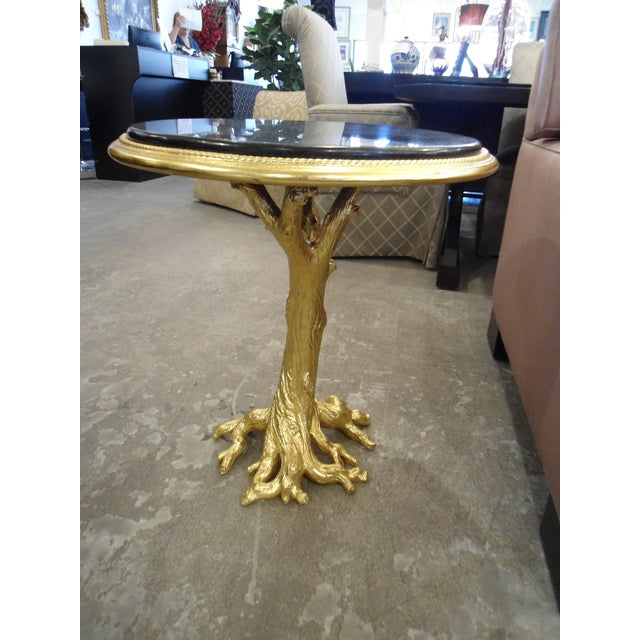 Gold Leaf Root Side Table - Image 5 of 10