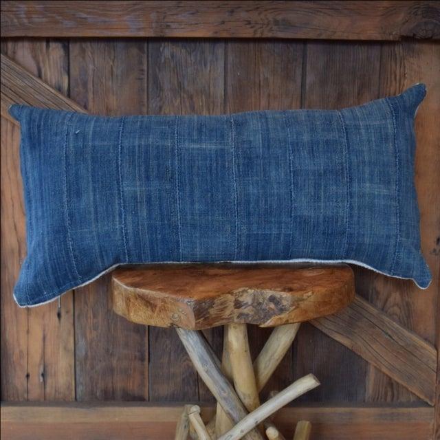African Indigo & Mudcloth Lumbar Pillow - Image 3 of 4