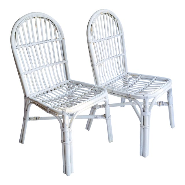 Mid-Century Bent Wood Bamboo Chairs - A Pair - Image 1 of 8