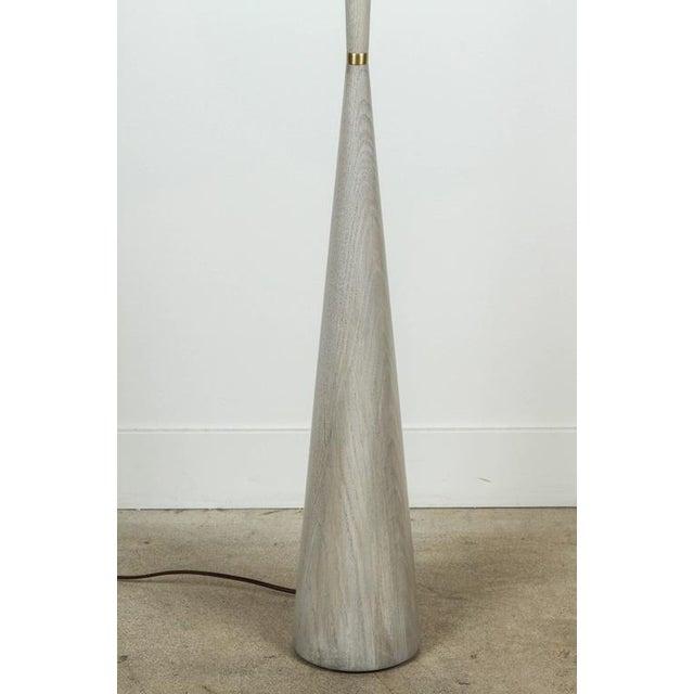 Image of El Monte Floor Lamp by Lawson-Fenning in Whitewashed Oak