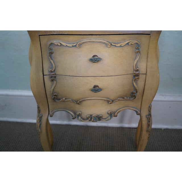 Vintage 1940s Painted Bombe Nightstands - A Pair - Image 9 of 10