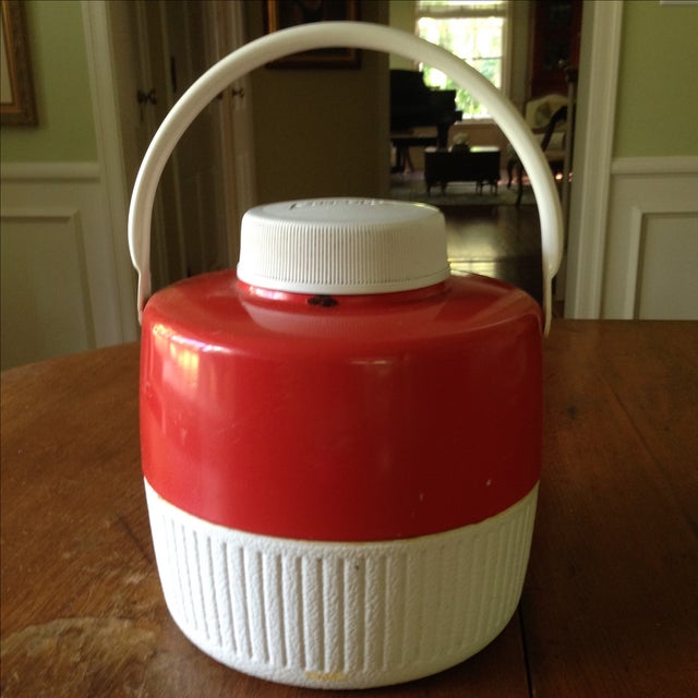 Vintage Red Metal & Plastic Coleman Cooler - Image 9 of 11