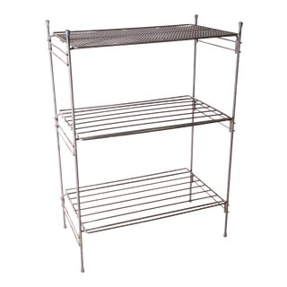 Mid Century Modern 3 Tier Black Wire Rack