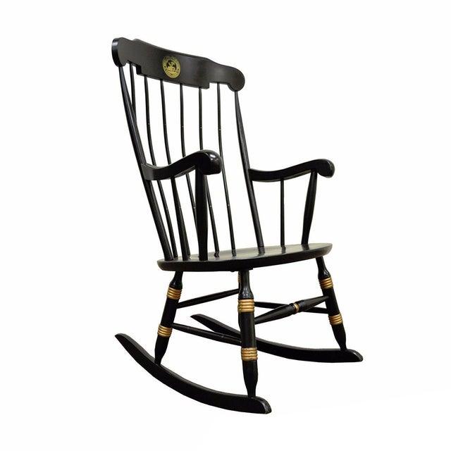 Vintage Sigill College University Nichols & Stone Windsor Rocking Chair - Image 11 of 11