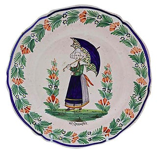 Antique French Quimper Plate