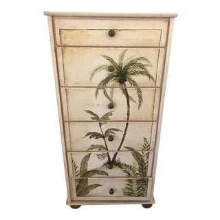 Hand Painted Palm Tree Dresser