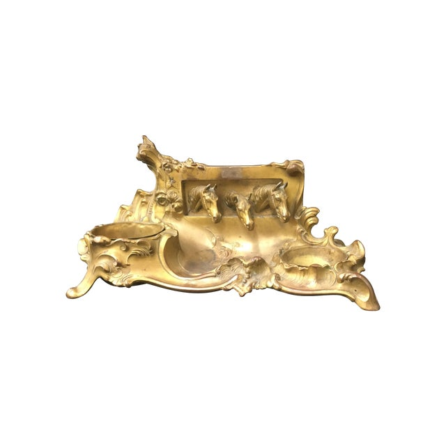 Brass Equestrian Desk Caddy - Image 1 of 7