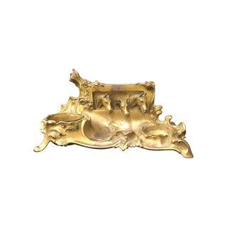 Brass Equestrian Desk Caddy
