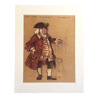 "Vintage Stratford Festival Design Folio, Oliver Goldsmith's ""She Stoops to Conquer"" Costume Print"