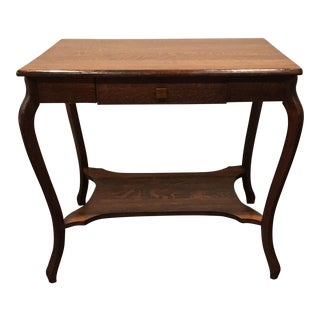 Antique Brandt Oak Library Table