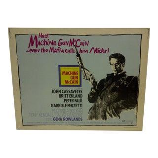 """Vintage Movie Poster """"Machine Gun McCain"""" John Cassavetes & Britt Ekland"""