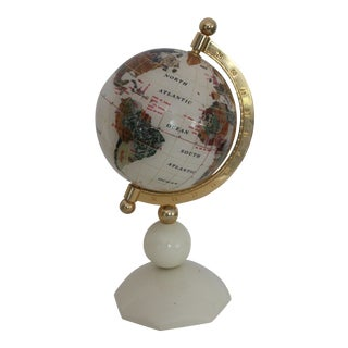 Lucite Gemstone World Globe
