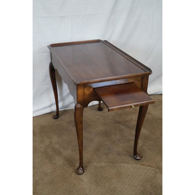 Statton Old Towne Solid Cherry Queen Anne Table - Image 4 of 10