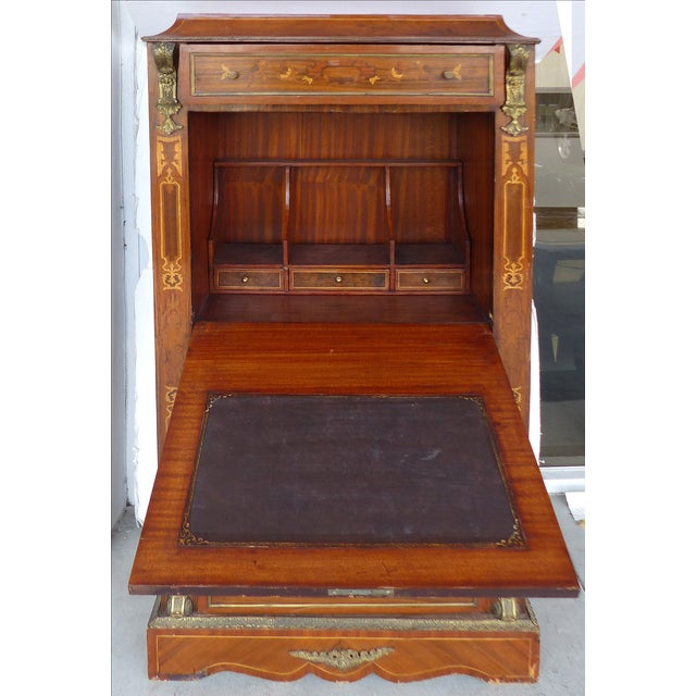 Antique French Style Marquetry Secretary - Image 3 of 11