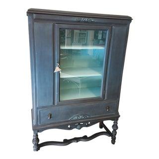 Antique Blue China Hutch