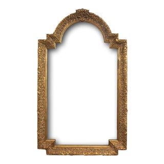 Large Gold Baroque Arched Mirror