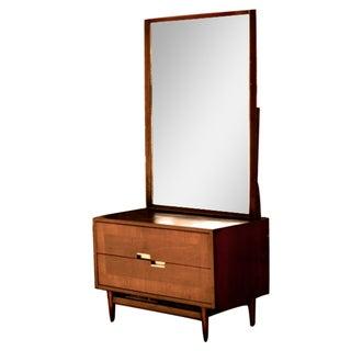 Mid-Century Modern 2 Drawer Gentlemen's Dresser