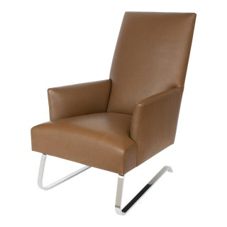 Donghia Odeon Leather Lounge Chair