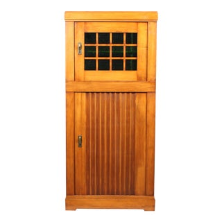 Arts and Crafts-Style Glass Cabinet