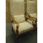 Image of Century Chairs With Chenille - A Pair