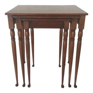 Vintage Pine Nesting Tables - Set of 3