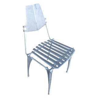Robert Josten Vintage Rare Cast Aluminum Chair