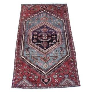 "Vintage Persian Zanjan Rug - 3'5"" X 5'11"""