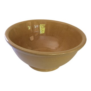 Vintage Pacific Yellow Earthenware Bowl