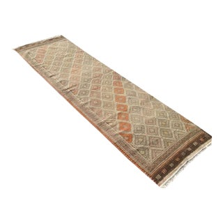 Turkish Traditional Hand Knotted Runner - 2′10″ × 9′2″