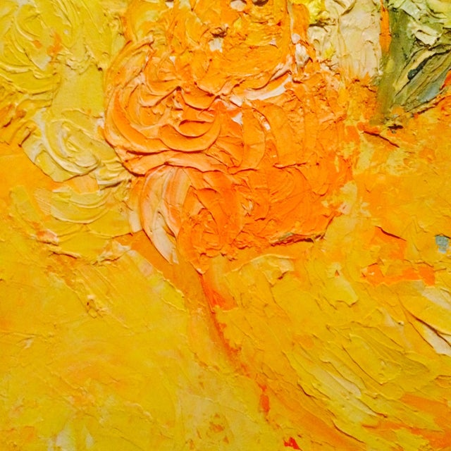 Floral Impressionist Painting Signed Bernheim - Image 3 of 8