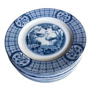 Antique English Dessert Plates - Set of 10