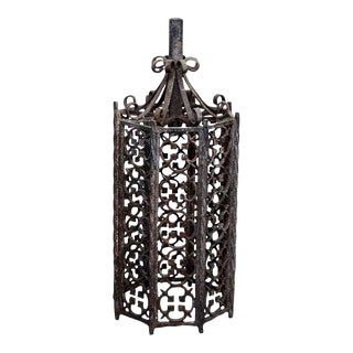 Wrought Iron Exterior Lantern