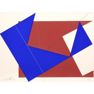 Cris Cristofaro, Blue & Red Rectangles, Silkscreen