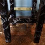 Image of Black and Silver Velvet Barstool