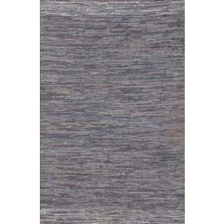 Blue Cotton Modern Rug - 10′2″ × 13′11″