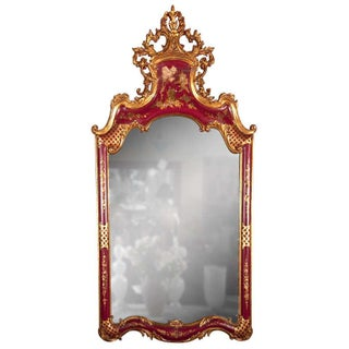 French Chinoiserie Style Mirror by Maison Jansen