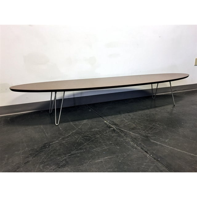 Mid Century Lane Copenhagen Drop Leaf Coffee Table: Lane Altavista Mid Century Modern Surfboard Coffee Table