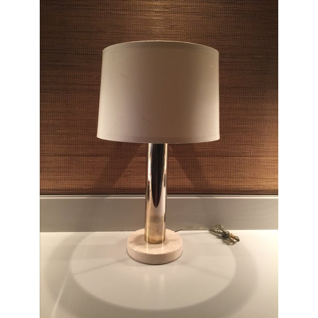 Vintage Modern Brass & Marble Table Lamp - Image 6 of 6