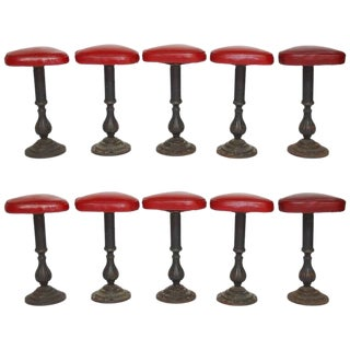 Victorian Cast Parlor Counter Stools - Set of 5