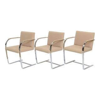Set of Six Mies Van der Rohe Flatbar Brno Chairs