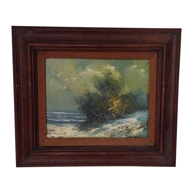 Vintage Oil on Board Seascape Painting - Image 1 of 11