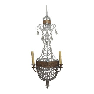 Fabulous Pair of Louis XVI style Crystal Sconces